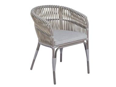 Polyethylene garden chair with armrests ARUBA 2