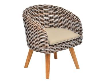 Garden synthetic fibre easy chair with armrests ARUBA CLUB