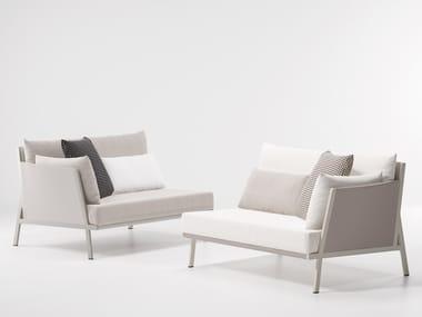 Upholstered modular garden sofa VIEQUES | Modular garden sofa