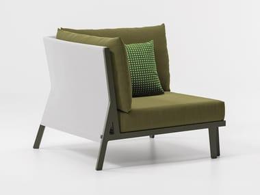 Corner fabric garden armchair VIEQUES | Garden armchair