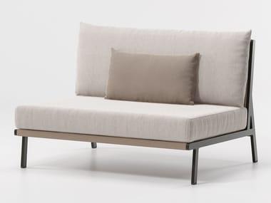 Upholstered modular garden sofa VIEQUES | Garden sofa