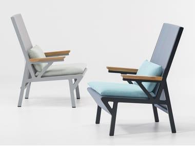 High-back garden armchair VIEQUES | High-back garden armchair