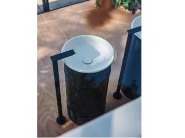 Freestanding round stainless steel washbasin VIEQUES OUTDOOR   Freestanding washbasin