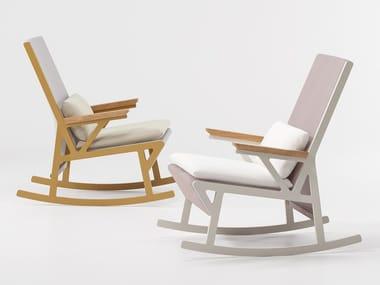 Rocking fabric garden armchair VIEQUES | Rocking garden armchair