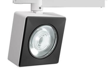 Lámpara en carril LED de aluminio moldeado VIEW OPTI BEAM LENS SQUARE | Lámpara en carril