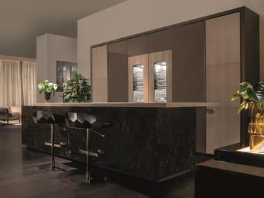 Custom marble kitchen VILLA ADRIANA