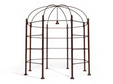 Metal gazebo with built-in lights VILLA BORGHESE