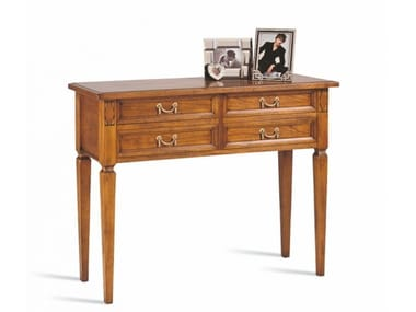 Rectangular cherry wood console table with drawers VILLA BORGHESE | Console table