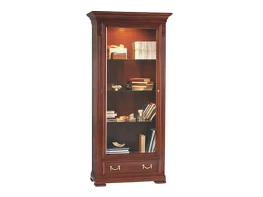 Cherry wood display cabinet with integrated lighting VILLA BORGHESE | Display cabinet