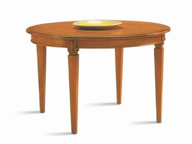 Round cherry wood dining table VILLA BORGHESE | Round table