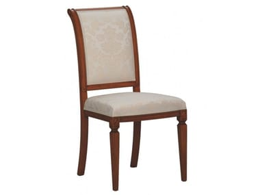 Upholstered open back beech chair VILLA BORGHESE | Chair