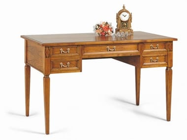 Rectangular cherry wood writing desk with drawers VILLA BORGHESE | Writing desk