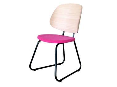 Sled base fabric chair VILLA | Chair
