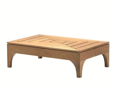 Rectangular teak garden side table VILLAGE | Rectangular coffee table