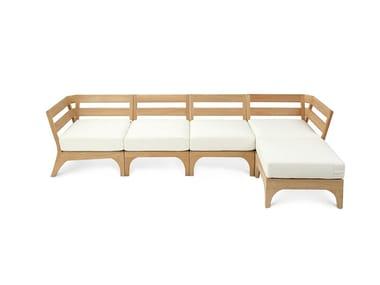 Modular fabric garden sofa VILLAGE | Modular garden sofa