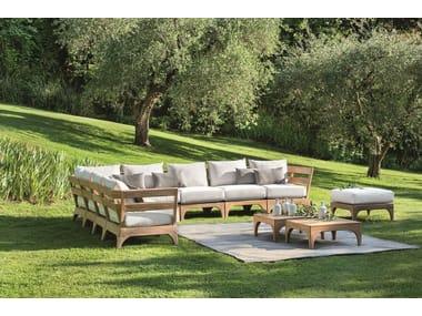 Sectional teak sofa VILLAGE | Sectional sofa