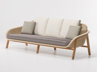 Synthetic fibre garden sofa VIMINI | 3 seater garden sofa