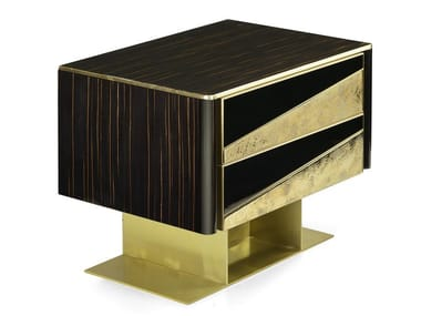 Lacquered rectangular bedside table with drawers VINCENT | Bedside table
