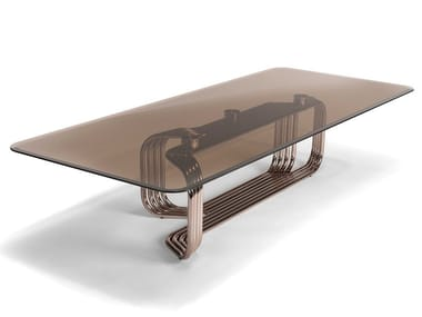 Low rectangular glass coffee table VINCENT | Coffee table