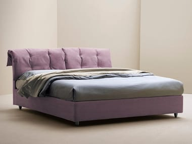 Upholstered storage bed with tufted headboard VINTAGE