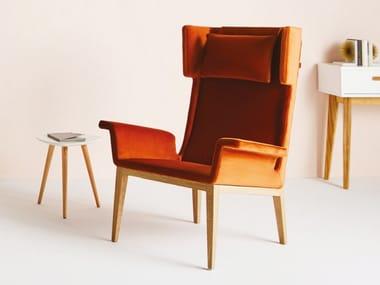 Wing armchair VINTAGE WOOD