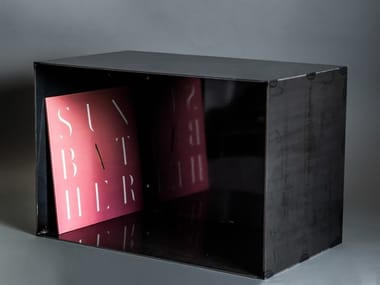 Crude steel vinyl records shelf VINYL