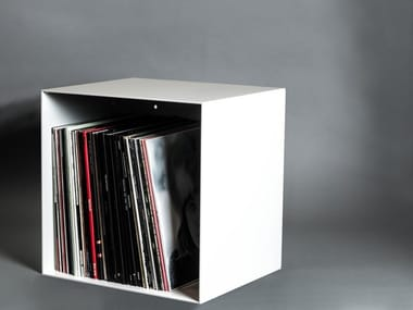 Lacquered steel vinyl record box VINYL SHELF