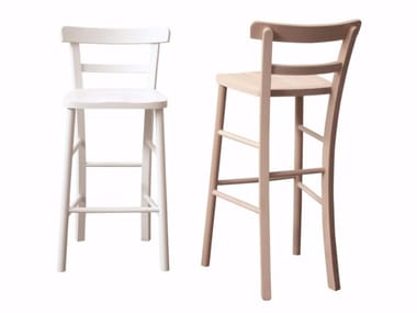 High ash stool with footrest VIOLINIST   Stool