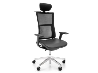 Executive chair with 5-spoke base with headrest VIOLLE 151SFL