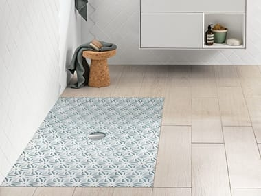 Rectangular ceramic shower tray VIPRINT – Inspired by Geometry