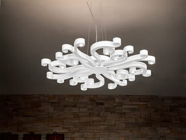 LED direct light expanded polyurethane pendant lamp VIRGO S100 / S70