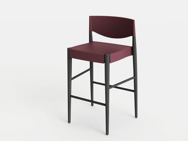 Barstool with footrest VIRNA | Barstool