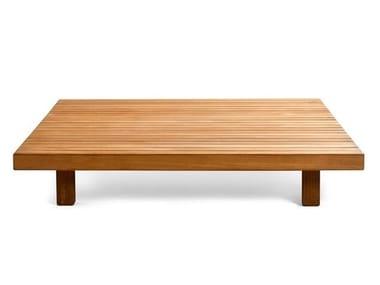 Low teak coffee table VIS À VIS SOFA | Garden side table
