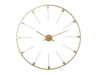 Wall-mounted powder coated steel clock VISIBLE STICKS | Clock