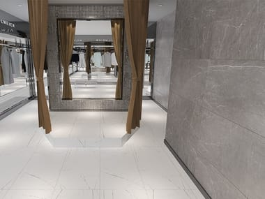 Porcelain stoneware wall/floor tiles with marble effect VISION