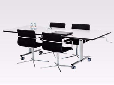 Height-adjustable meeting table with castors VISION GROUP TABLE