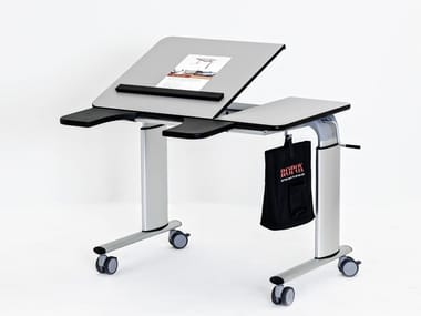 Height-adjustable Kids writing desk with castors VISION TABLE MANUAL