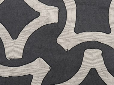 Jacquard fabric with graphic pattern VISION