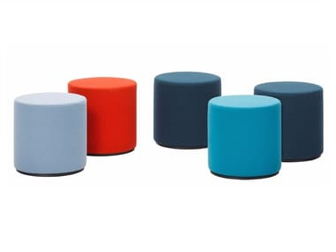 Upholstered fabric stool VISIONA STOOL