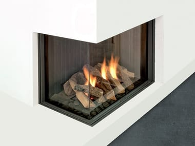 Double-sided gas built-in fireplace VISTA 75