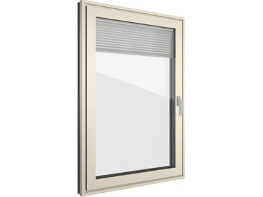 Aluminium and PVC window with built-in blinds FIN-Project Classic-line Twin ForRes