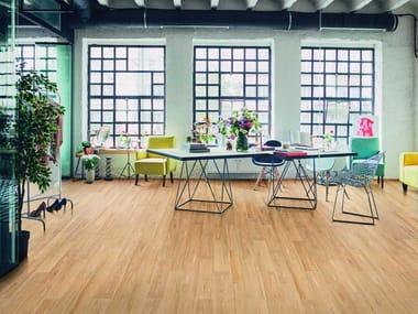 Pavimento in gres porcellanato effetto legno per interni ed esterni VISUAL | Beige