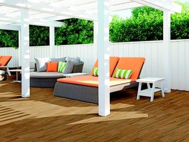 Pavimento in gres porcellanato effetto legno per interni ed esterni VISUAL | Brown
