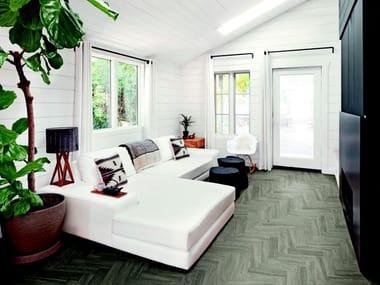 Pavimento in gres porcellanato effetto legno per interni ed esterni VISUAL | Grey