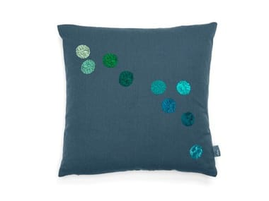 Square fabric cushion VITRA - DOT PILLOW Blue-Grey