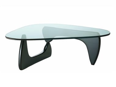 Wood and glass coffee table VITRA - NOGUCHI COFFEE TABLE Black ash