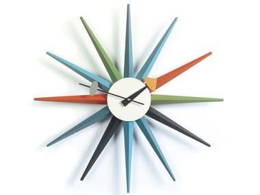 Orologio da parete VITRA - SUNBURST CLOCK MULTICOLOR