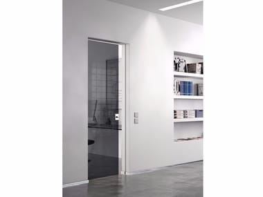 Glass pocket sliding door VITRUM-MOVE MINIMA