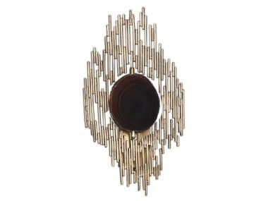 Lampada da parete in agata e metallo VIVRE | Applique