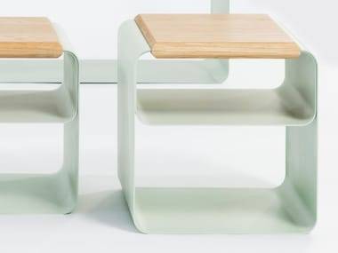 Low lacquered plate stool VODO | Stool
